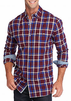 Ocean & Coast Long Sleeve Brushed Twill Plaid Shirt