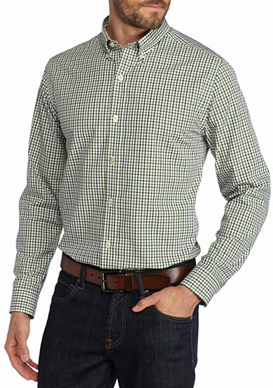 Saddlebred® 1888 Long Sleeve Mini Gingham Non-Iron Shirt