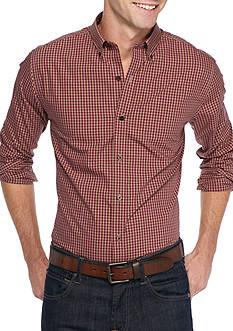 Saddlebred 1888 Long Sleeve Mini Gingham Non-Iron Shirt