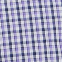 Men: Saddlebred Casual Shirts: Purple Saddlebred 1888 Long Sleeve Mini Gingham Non-Iron Shirt