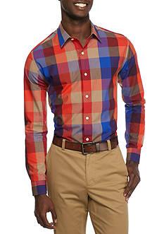 Saddlebred Long Sleeve Large Gingham Non Iron Shirt