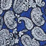 Men: Saddlebred Casual Shirts: Blue Saddlebred 1888 Long Sleeve Paisley Print Shirt