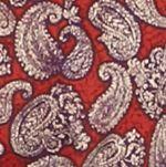 Men: Saddlebred Casual Shirts: Red Saddlebred 1888 Long Sleeve Paisley Print Shirt
