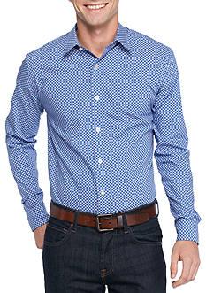 Saddlebred 1888 Long Sleeve Dot Print Shirt