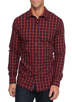 Saddlebred Long Sleeve Non-Iron Windowpane Shirt