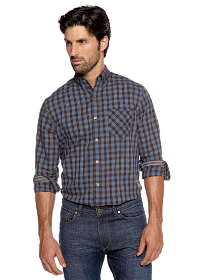 Black Brown 1826 Plaid Check Shirt