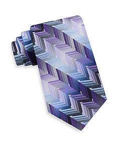 Van Heusen Extra Long Ombre Zig Zag Tie