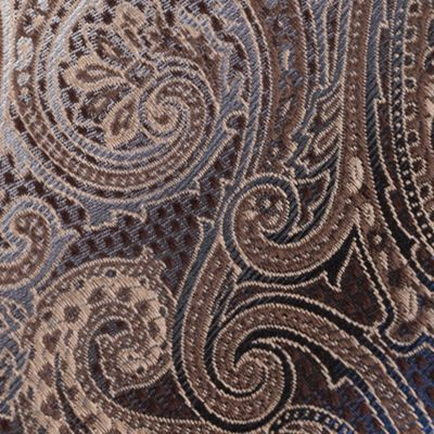 Men: Neckties Sale: Taupe Van Heusen Textured Paisley Tie