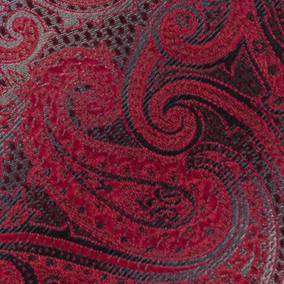 Men: Neckties Sale: Red Van Heusen Textured Paisley Tie