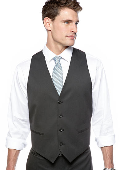 Marc Ecko Slim Fit Black Pin-dot Suit Separate Vest