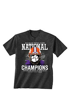 New World Graphics Clemson Tigers 2016 National Champions Face Guard Graphic Tee