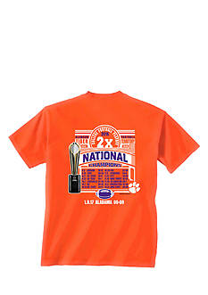 New World Graphics Clemson Tigers 2016 National Champions Season Recap Graphic Tee