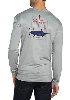 Guy Harvey Barrel Long Sleeve Performance Graphic Shirt
