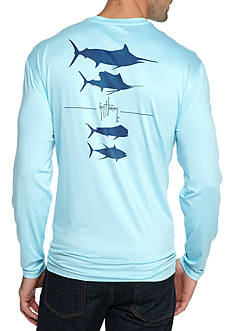 Guy Harvey® Hypersonic Long Sleeve Performance Graphic Shirt