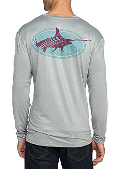 Guy Harvey® Swordsmith Long Sleeve Graphic Performance Shirt