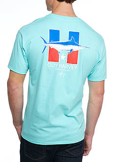 Guy Harvey H is for Harvey Short Sleeve Graphic Tee