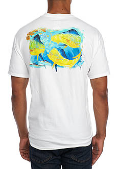 Guy Harvey Short Sleeve Bunch Of Bulls Graphic Tee