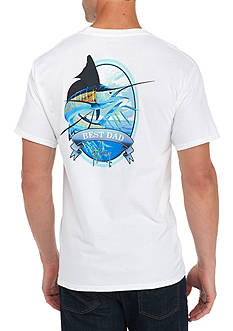 Guy Harvey® Short Sleeve Fathers Day Best Dad Marlin Tee