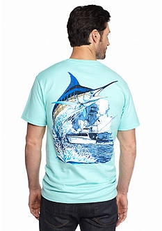 Guy Harvey Marlin Boat Short Sleeve Graphic Tee
