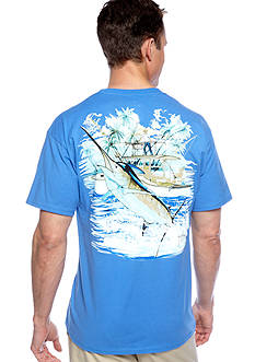 Guy Harvey® Short Sleeve Marlin And Boat 2 Graphic Tee