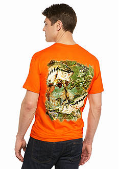 Guy Harvey® Bass Camo Short Sleeve Tee