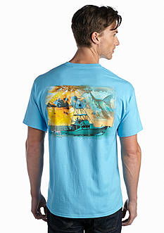 Guy Harvey Short Sleeve Cruisin' Graphic Pocketed Tee