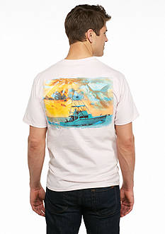 Guy Harvey® Short Sleeve Cruisin' Graphic Pocketed Tee