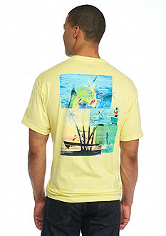 Guy Harvey® Short Sleeve Dorado Palms Graphic Tee