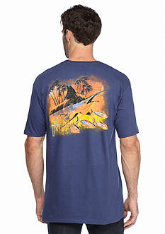 Guy Harvey® Short Sleeve Blue Through Graphic Tee