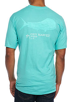 Guy Harvey Short Sleeve Blue Crew Graphic Tee