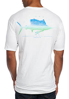Guy Harvey Short Sleeve Sailfish Scribble Graphic Tee