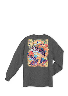 Guy Harvey® Long Sleeve Large-Mouth Lunge Graphic Tee