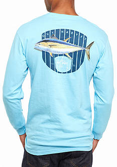 Guy Harvey® Long Sleeve Bluefin Graphic Tee