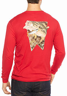 Guy Harvey Long Sleeve Loudmouth Graphic Tee