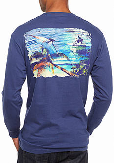 Guy Harvey® Long Sleeve Whats It All About Graphic Tee
