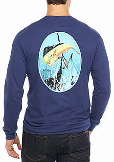 Guy Harvey Long Sleeve Mahi Kebob Graphic Tee