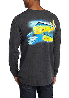 Guy Harvey Long Sleeve Double Dorado Graphic Tee