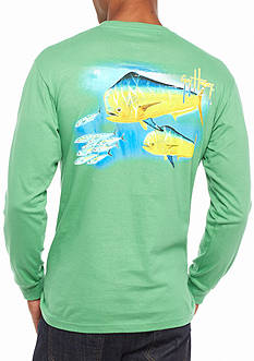 Guy Harvey® Long Sleeve Double Dorado Graphic Tee