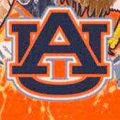 Short Sleeve T-shirts for Men: Orange Guy Harvey Auburn War Eagle Short Sleeve T-Shirt