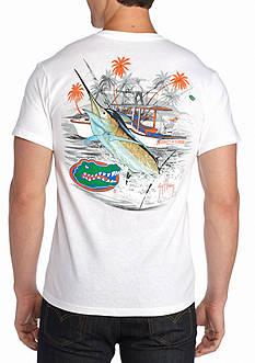 Guy Harvey Collegiate Boat University of Florida Short Sleeve Graphic Tee