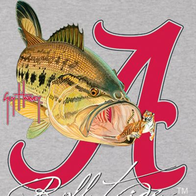 Guy Harvey: Athletic Heather Guy Harvey Bama Roll Tide Tee