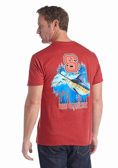 Guy Harvey® North Carolina State Wolfpack Triple Threat Short Sleeve Graphic Tee