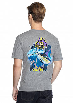 Guy Harvey® East Carolina Pirates Triple Threat Short Sleeve Graphic Tee