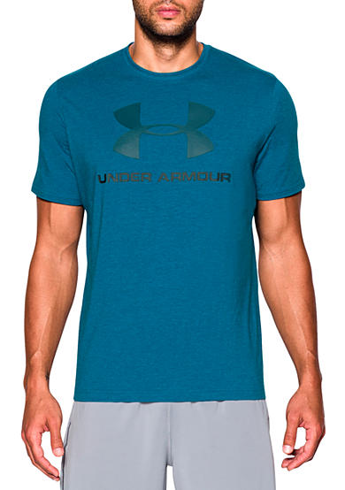 Under armour sportstyle logo graphic tee shirt belk for Under armour tee shirts sale