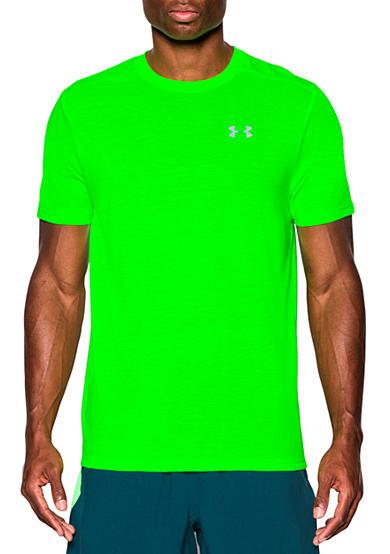 Under armour threadborne streaker run short sleeve t shirt for Do under armour shirts run small