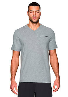 Under Armour® Charged Cotton® V-Neck Short Sleeve Tee
