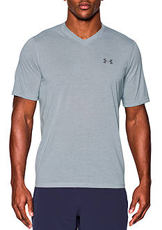 Under Armour® Threadborne Siro Striped V-Neck T-Shirt