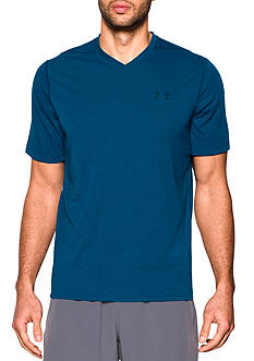 Under Armour® Ultimate V Neck Stripe Tee Shirt