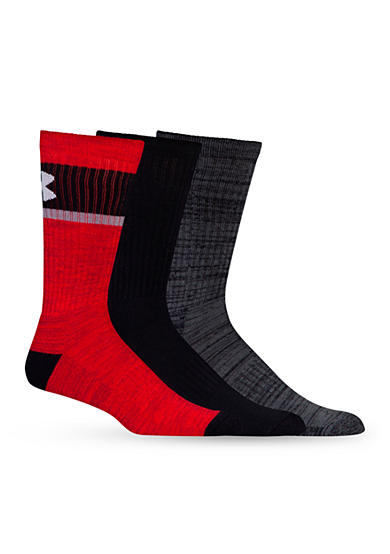 Under Armour® Twisted Crew Socks - 3 Pack