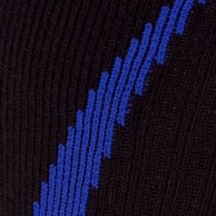Young Mens Activewear: Socks: Black/Royal Under Armour Undeniable Crew Socks